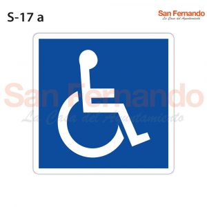 senal informativa cuadrada azul peaton