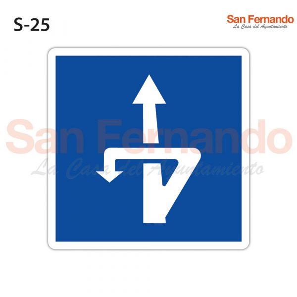 indicacion cuadrada azul