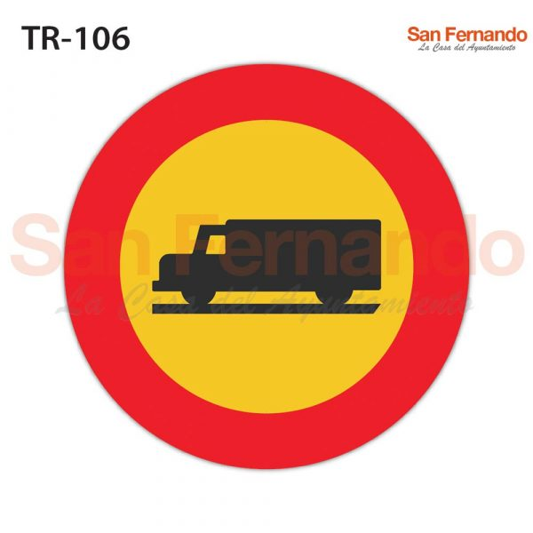 senalizacion vertical mopu. redonda amarilla camion