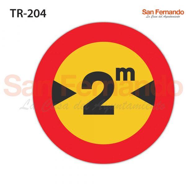senalizacion vertical mopu redonda amarilla. anchura maxima