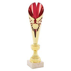 Copa cónica dorado y rojo