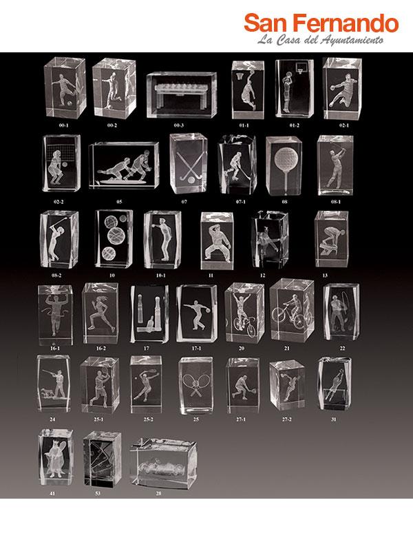 Grabación trofeo en cristal 2D 3D
