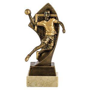 trofeo balonmano dorado
