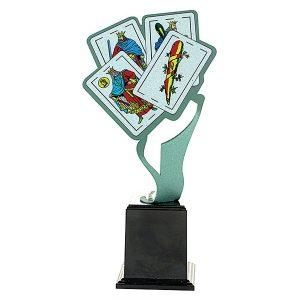 Trofeo cartas baraja española