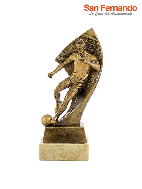 trofeo futbol dorado